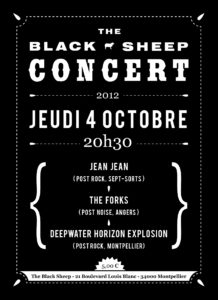 Affiche concert The Black Sheep 04-10-12