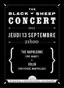 Affiche concert The Black Sheep 13-09-12