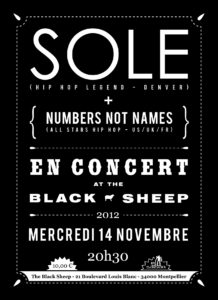 Affiche concert The Black Sheep 14-11-12