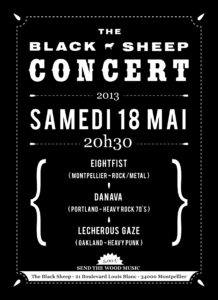 Affiche concert The Black Sheep 18-05-13