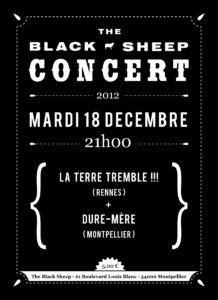Affiche concert The Black Sheep 18-12-12
