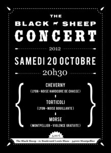 Affiche concert The Black Sheep 20-10-12