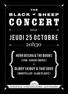 Affiche concert The Black Sheep 25-10-12