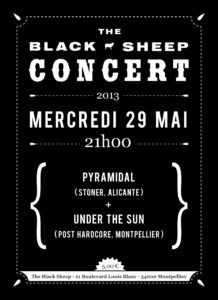 Affiche concert The Black Sheep 29-05-13