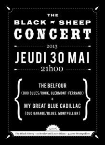 Affiche concert The Black Sheep 30-05-13