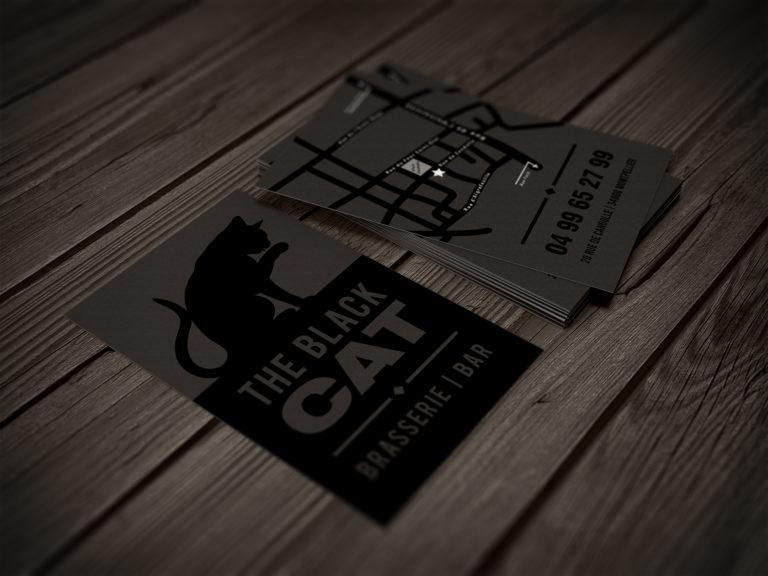 Carte de visite The Black Cat