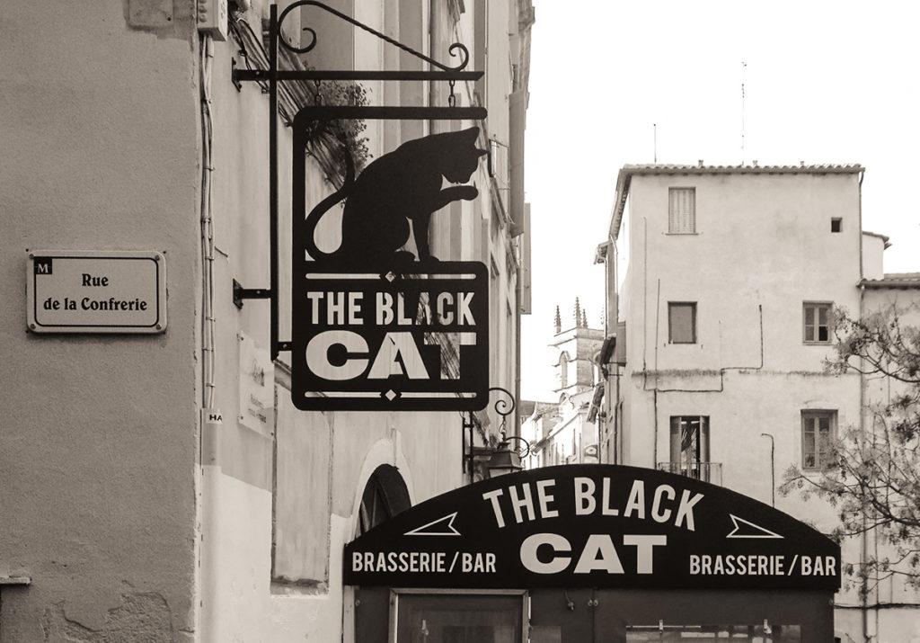 Enseigne The Black Cat