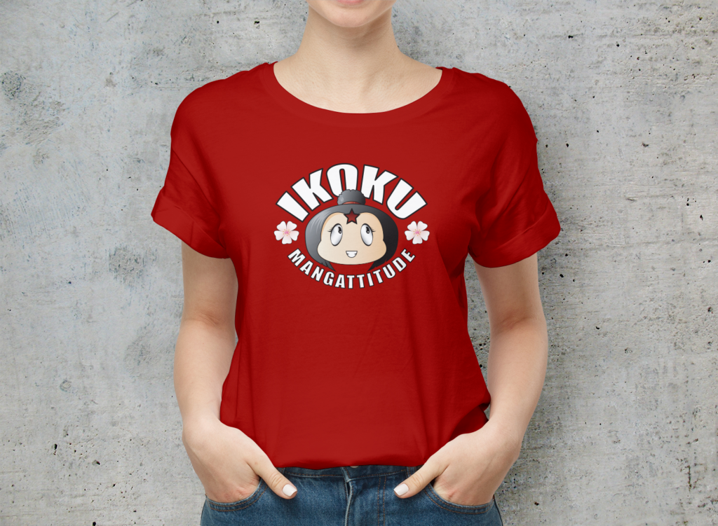 T-shirt femme rouge logo librairie Ikoku