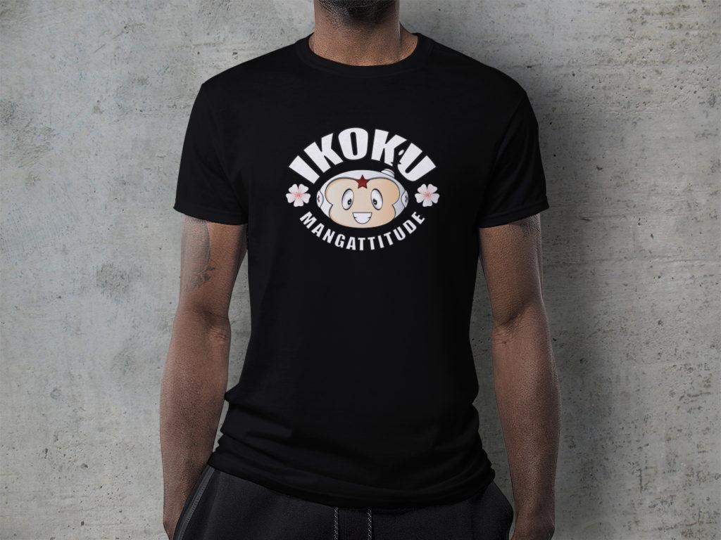 T-shirt noir logo librairie Ikoku