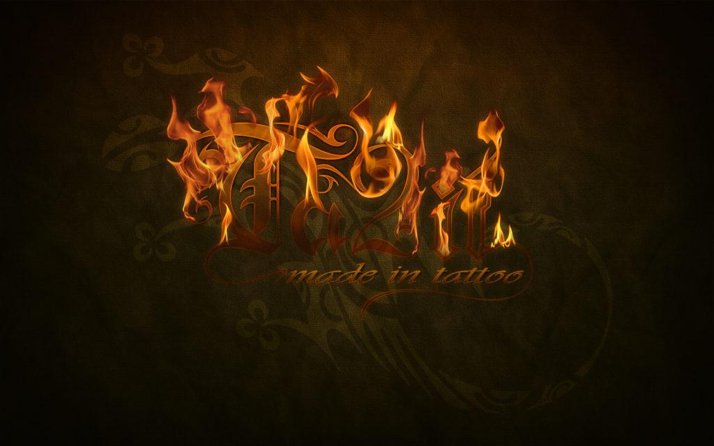 Fond d'écran burn logo Ta2it
