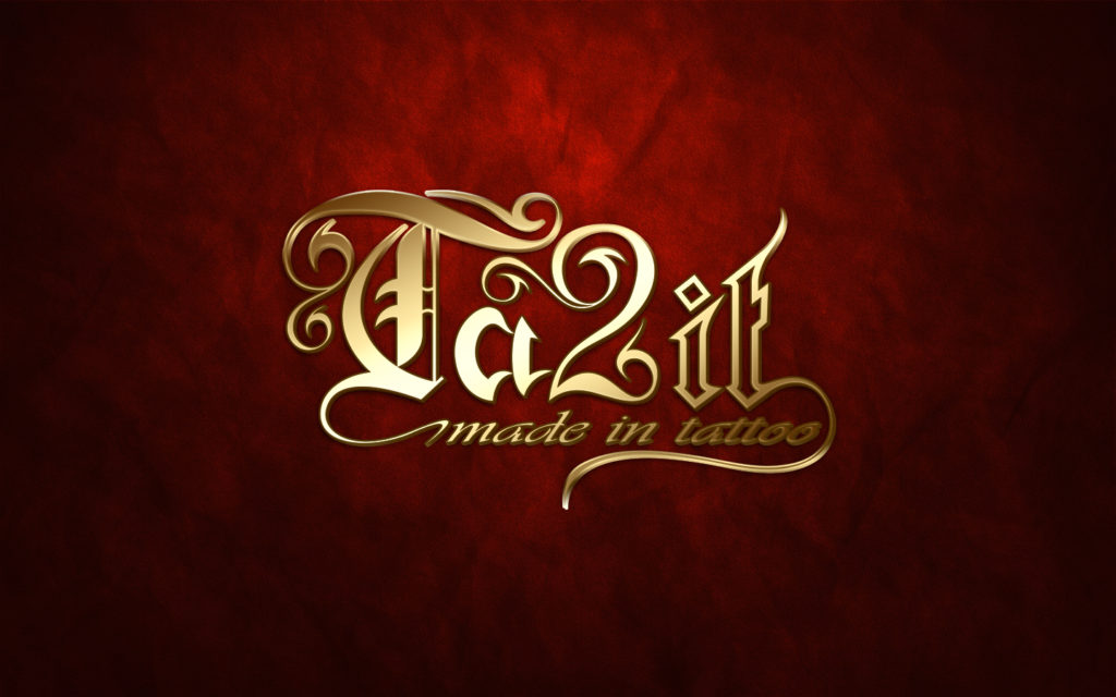 Fond d'écran gold logo Ta2it