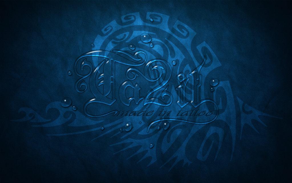 Fond d'écran water logo Ta2it