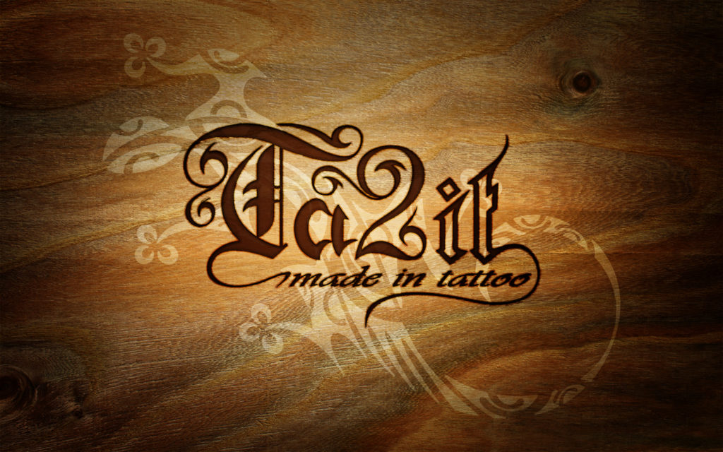 Fond d'écran wood logo Ta2it
