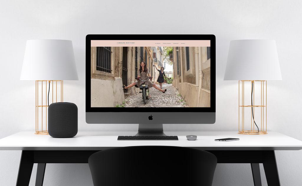 Site internet Caroline Bouvier Maison de couture