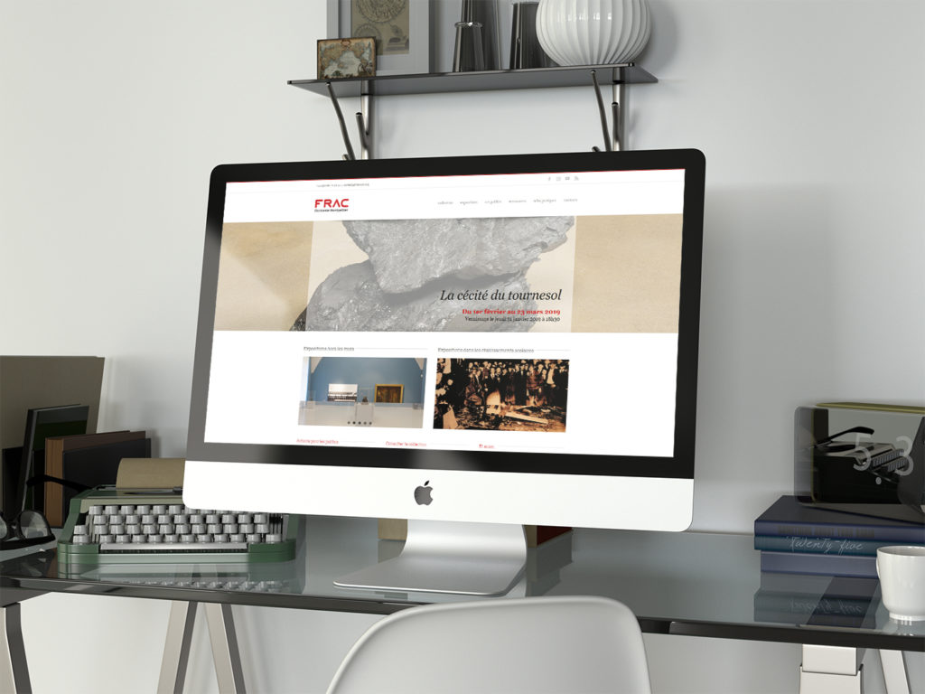 Site internet FRAC Occitanie Montpellier