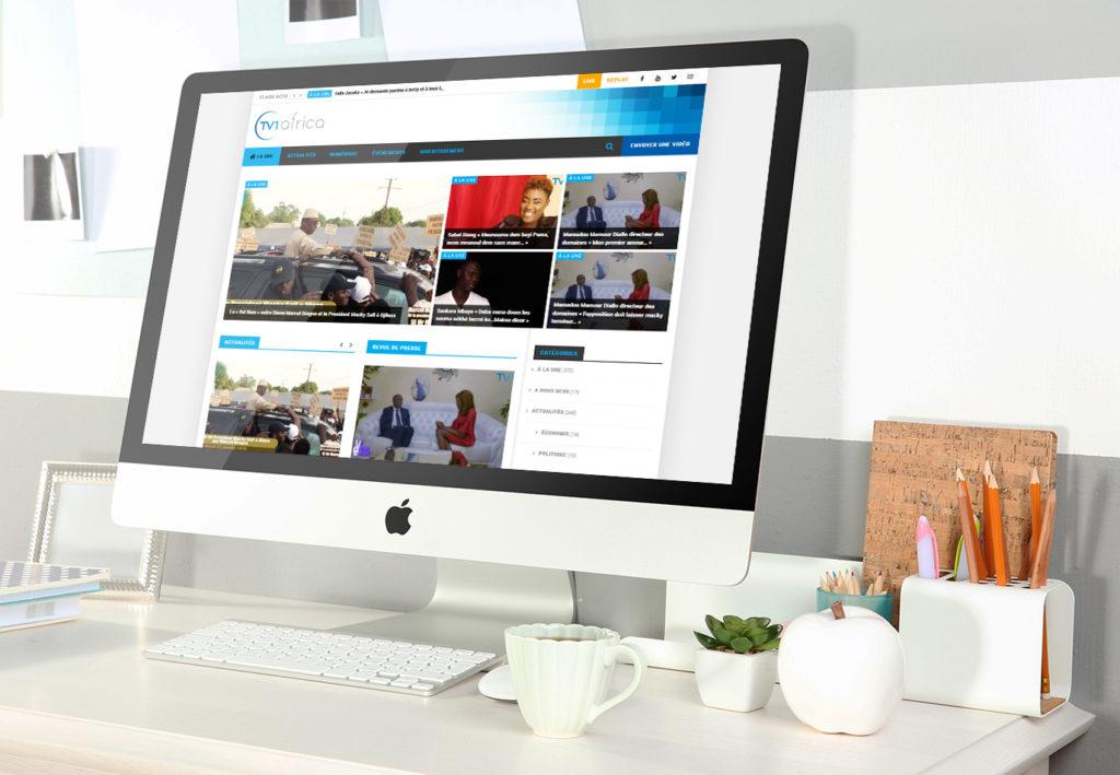 Site internet TV1 Africa