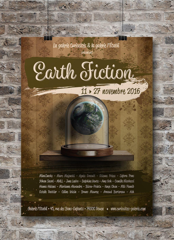 Affiche exposition Earth Fiction Galerie Curiosités