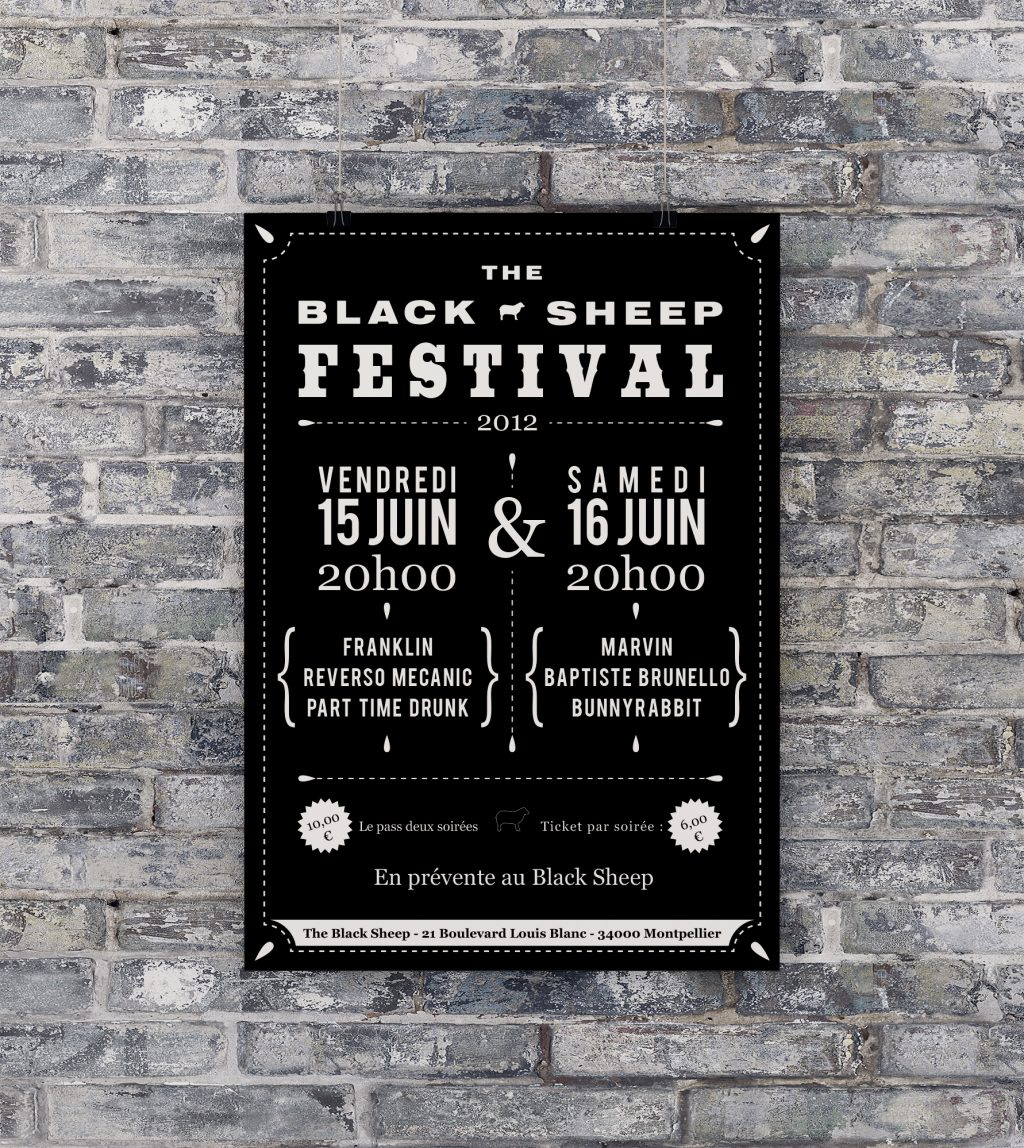 Affiche The Black Sheep Festival n°1